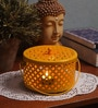 Rednbrown Yellow Metal Candle Holder