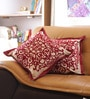 Multicolour Cotton 16 x 16 Inch Designer Cushion Cover - Set of 2 by Reme