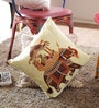 Reme Multicolour Cotton 16 x 16 Inch Embroidered Cushion Cover - Set of 2