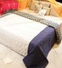 Multicolour Cotton King Size Embroiderd Quilt by Reme