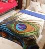 Multicolour Cotton King Size Peacock Designer Quilt by Reme