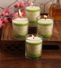 Citronella, Neem & Tulsi Aroma Natural Wax Shot Glass Scented Candles - Set of 4 by Resonance