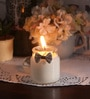 Coffee Christmas Styled Festive Bow Party Scented Candle by Resonance