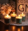 Resonance Green apple Christmas Festive Scented Candle - Set of 4