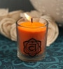 Resonance Meditation Orange & Sandalwood Aroma Sacral Chakra Healing Therapy Scented Candle