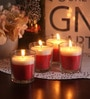 Resonance Strawberry Christmas Festive Scented Candle - Set of 4