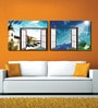 Retcomm Framed Multiple Canvas Paintings Window to Music