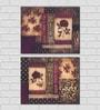 Retcomm Art Ethnic Design Wooden 18 x 12 Inch Framed 2-piece Digital Art Print Set
