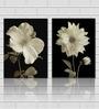 White Flowers Wooden 18 x 18 Inch 2-piece Framed Digital Art Print by Retcomm Art