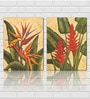 Retcomm Framed Multiple Canvas Paintings cactie exotic red yellow and purple flower amidst green leaves