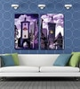 Retcomm Framed Multiple Canvas Paintings three frames of london street house