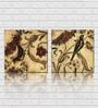 Retcomm Art Swallow Wooden 18 x 18 Inch Framed 2-piece Digital Art Print Set