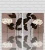Retcomm Art Lily Flower Wooden 18 x 12 Inch Framed 2-piece Digital Art Print Set