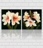 Retcomm Framed Multiple Canvas Paintings Red and White Tulip flowers in light shade as pair
