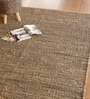 Brown & Black Hemp and Chenille 79 x 55 Inch Geometric Pattern Area Rug by The Rug Republic