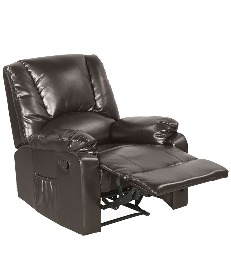 Buy Rhine One Seater Recliner In Burgundy Colour By Godrej