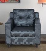 Ricco One Seater Sofa in Dark Grey Colour