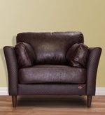 Richmond One Seater Sofa in Chocolate Brown Colour