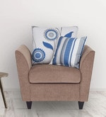 Rio Brilliance One Seater Sofa in Beige Colour