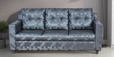Ricco Three Seater Sofa in Dark Grey Colour