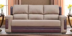 Rich Dual Tone Three Seater Sofa in Coffee & Brown Colour