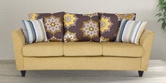 Rio Brilliance Three Seater Sofa in Yellow Colour