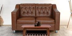 Riosche Two Seater Sofa in Tan Leatherette
