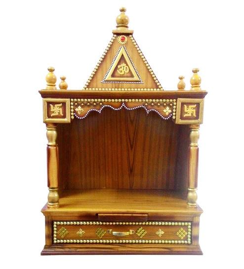 Buy Brown Teak Sagwan Decorated Temple By Richwood Online