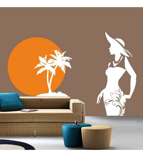 rising sun on beach wall sticker decalcreative width online