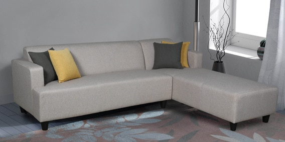 Buy Rigo Lhs Three Seater Lounger L Shape Sofa In Beige Color