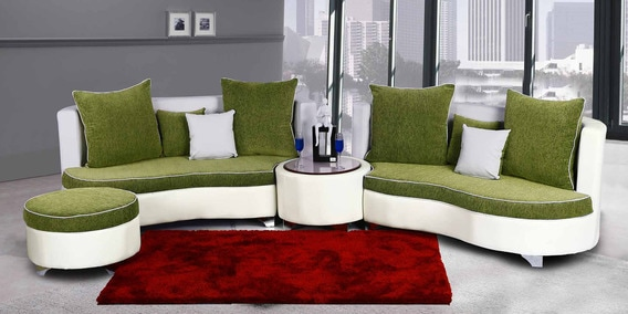 Rio Sectional Sofa In Green Colour By Home City