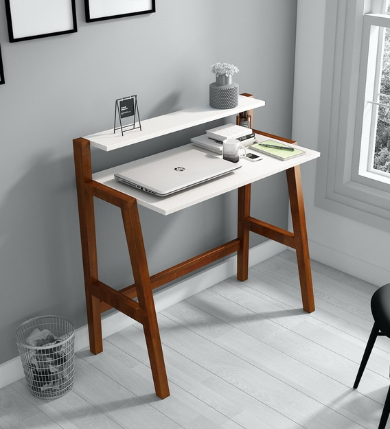 Buy Rio Foldable Study Table In Frosty White Colour By A Globia Creations Online Contemporary Writing Tables Tables Furniture Pepperfry Product