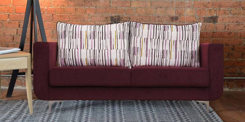Buy Rio Three Seater Sofa in Purple Colour by Peachtree line