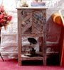 Rihanna End Table in Distress Finish by Bohemiana