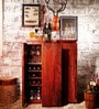 Oakland Bar Cabinet in Honey Oak Finish by Woodsworth