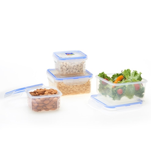 6dcbb624607 Buy RK Super Lock   Seal Transparent Rectangular Containers - Set of 4  Online - Airtight Storage - Airtight Storage - Dining   Bar - Pepperfry  Product