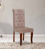 Rochelle Button Chair in Beige Color