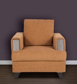 Roman Reverie One Seater Sofa in Coffee Brown Colour