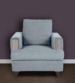 Roman Reverie One Seater Sofa in Steel Grey Colour