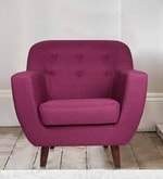 Rome One Seater Sofa in Purple Colour