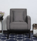 Rome One Seater Sofa with Cushion in Grey Colour