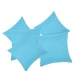 Rosara Aqua Polyester 16 x 16 Inch Microfiber Cushion Cover - Set of 5