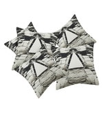 Black Cotton 16 x 16 Inch Seneca Abstract Digital Printed Cushion Cover - Set of 5
