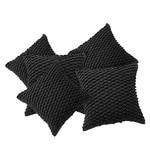 Grey Cotton 16 x 16 Inch Leighton Felt Triangular Cushion Cover - Set of 5