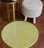 Green Wool 28 Inch Area Rug