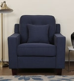 Rosario One Seater Sofa in Navy Blue Color