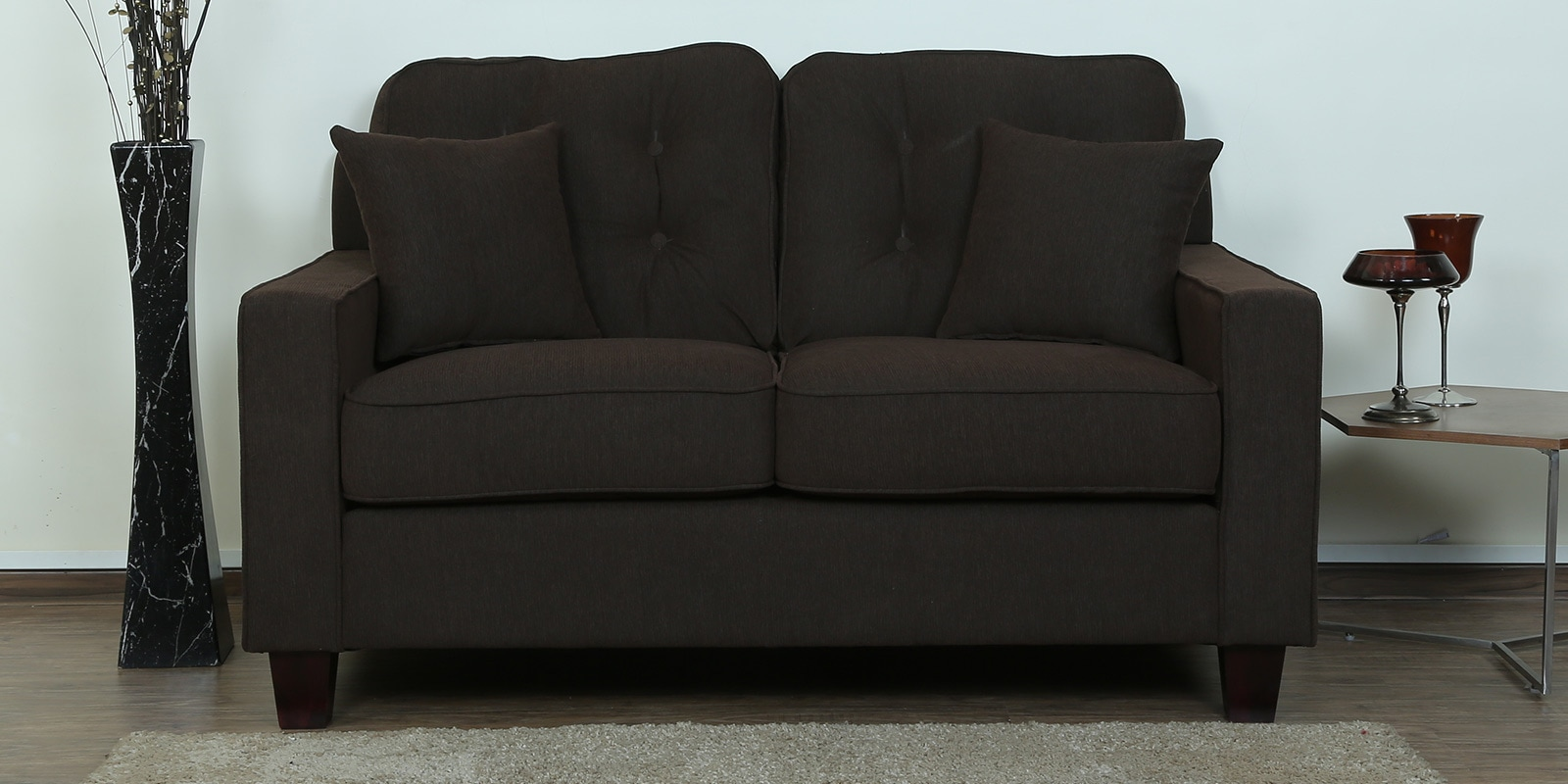 Buy Rosario 2 Seater Sofa in Chestnut Brown Colour by ...