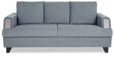 Roman Reverie Three Seater Sofa in Steel Grey Colour