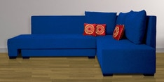 Rome L-Shaped Sectional Sofa in Blue Color