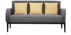 Rome Three Seater Sofa  with Cushions in Grey Colour